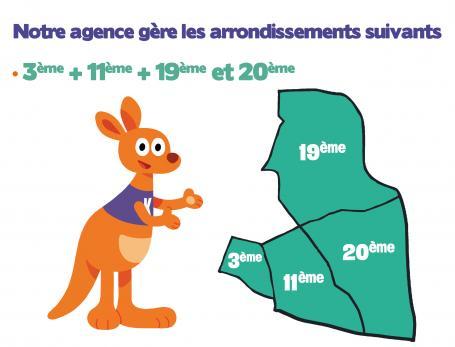 L'agence Kangourou Kids Paris Nord Est